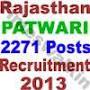 RPSC, Patawari recruitmwent 2013,
