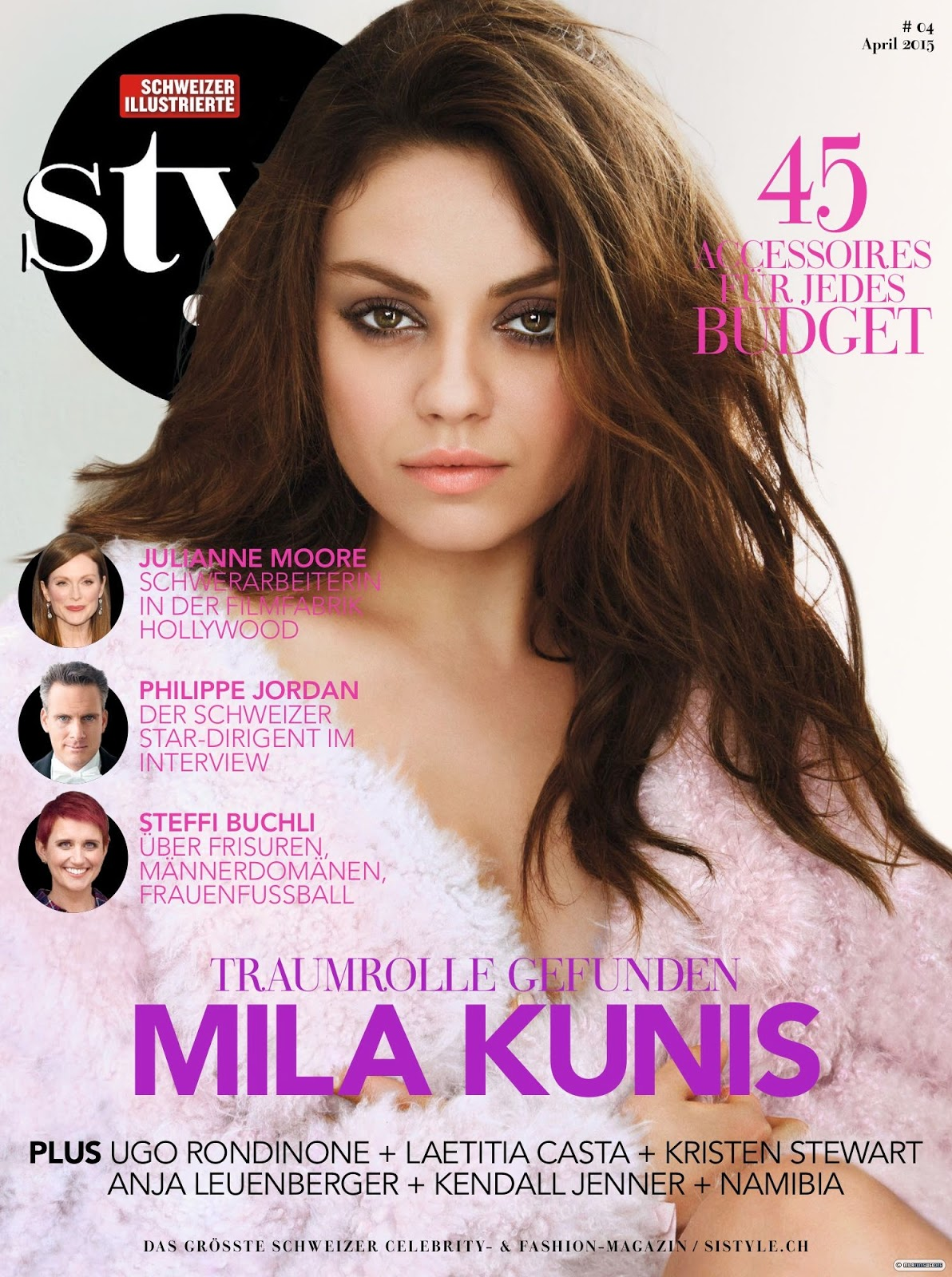 Actress @ Mila Kunis - Si Style Switzerland, April 2015