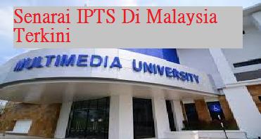 senarai terkini IPTS
