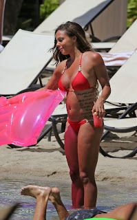 Sydney Leroux Red Bikini Hawaii