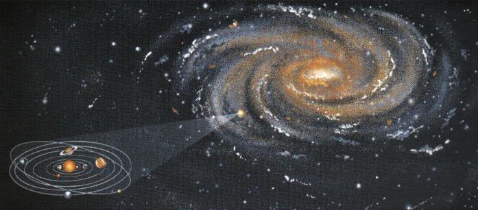 v�a láctea y sistema solar