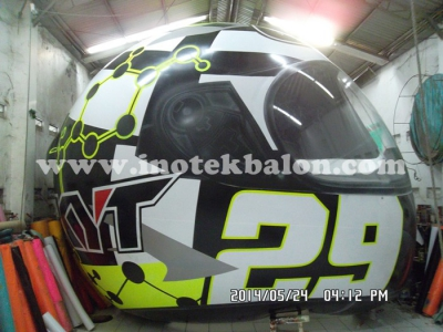 Balon udara karakter hel KYT