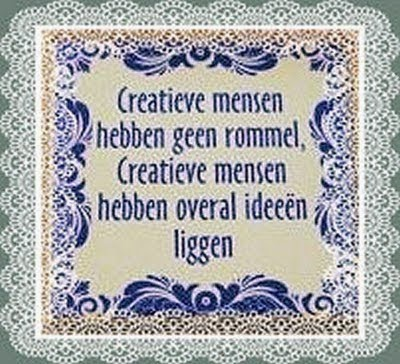 Creatieve mensen...