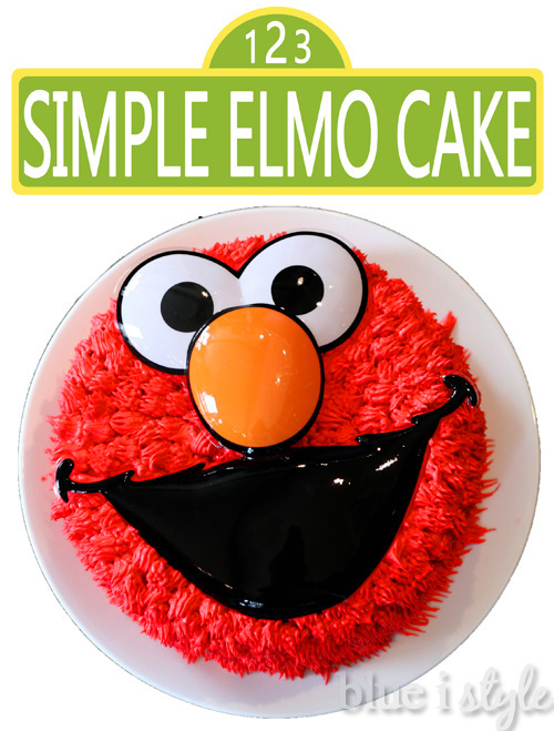 entertaining with style A Simple Elmo Cake Basic Cake Decorating