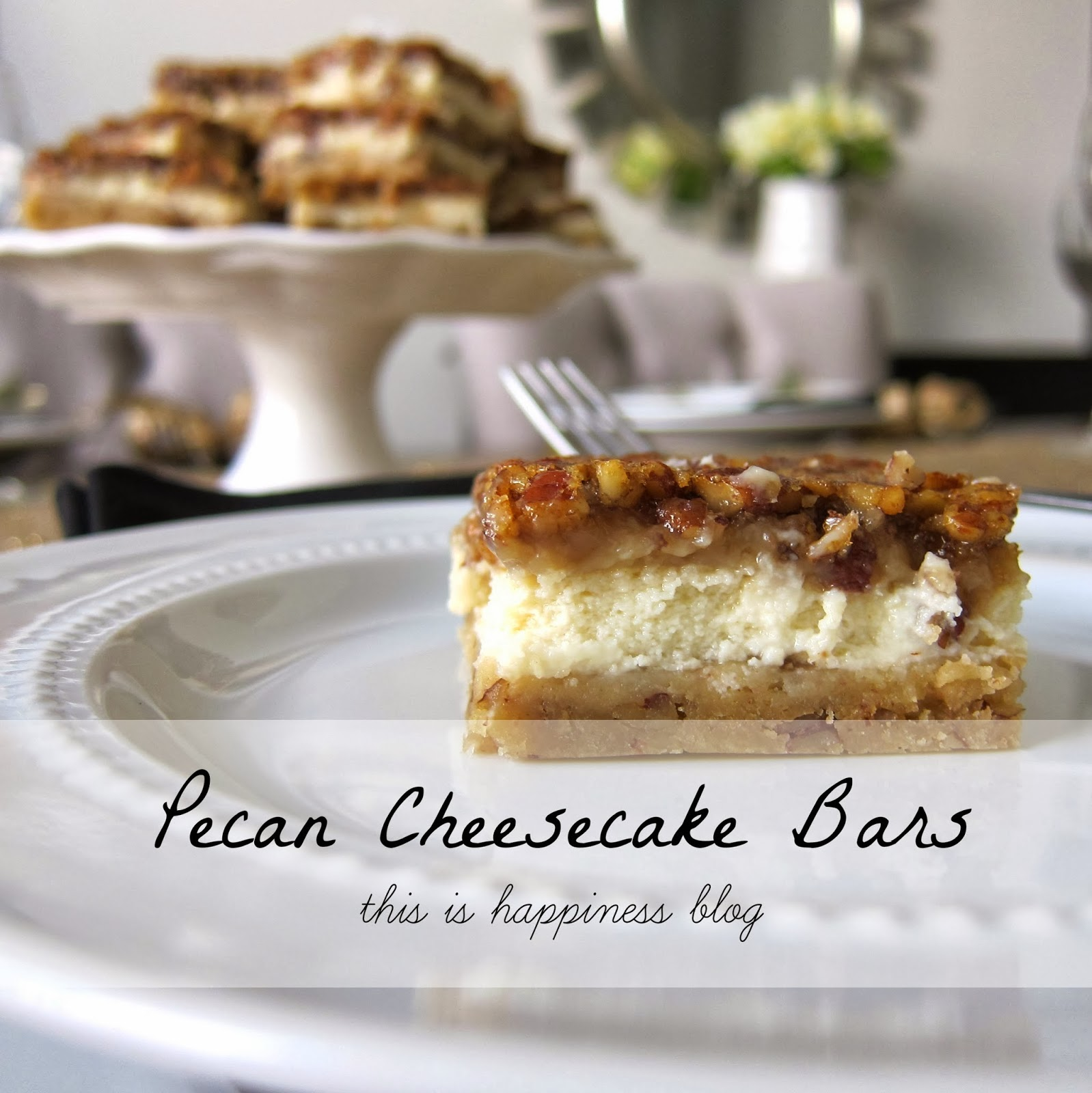 Pecan Cheesecake Bars -- shortbread, cheesecake and pecan pie all ...