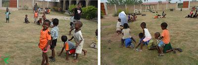 I bambini fanno sport nella scuola di Atchanvé, Togo, Africa