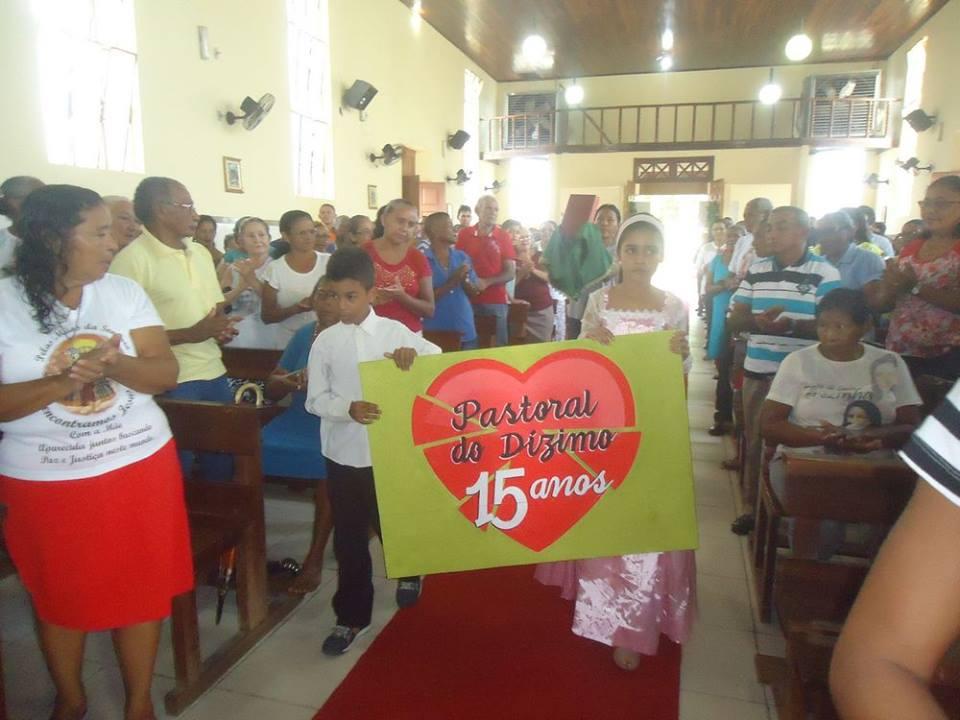 15 ANOS DA PASTORAL DO DÍZIMO - MISSA EM AÇÃO DE GRAÇAS