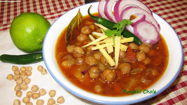punjabi chole (chick peas curry) / chana masala /kabuli chana curry