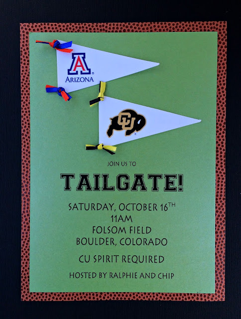 Tailgate Party College Pennant Invitations - www.jacolynmurphy.com