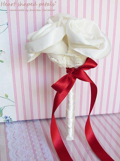 toss fabric bouquet wedding