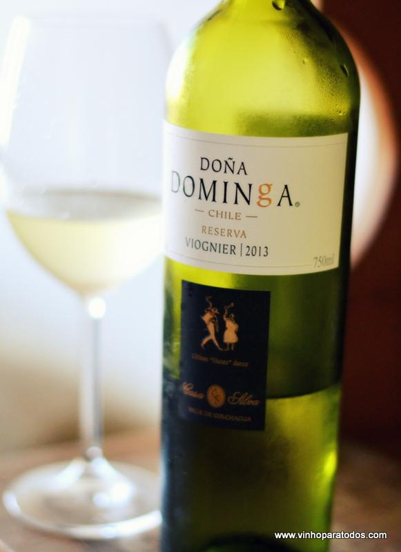 Difícil errar com vinhos dessa vinícola: Doña Dominga Reserva Viognier 2013