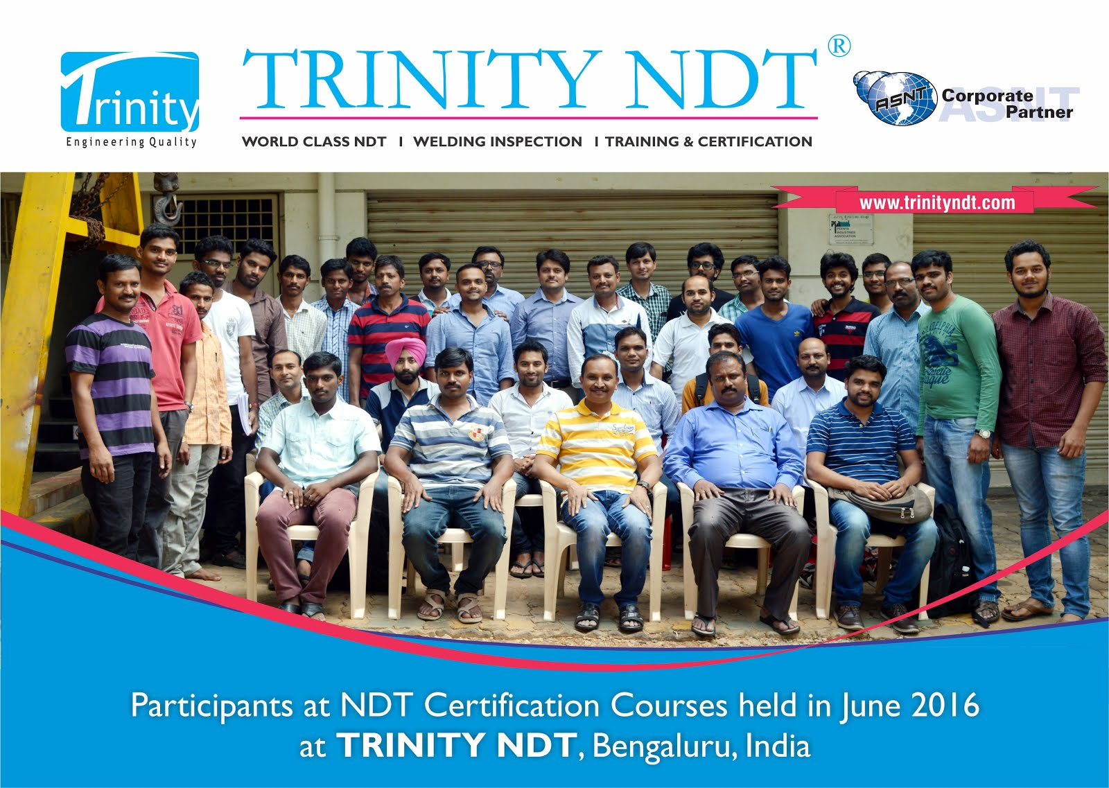 June 2016 batch participants at Trinity NDT