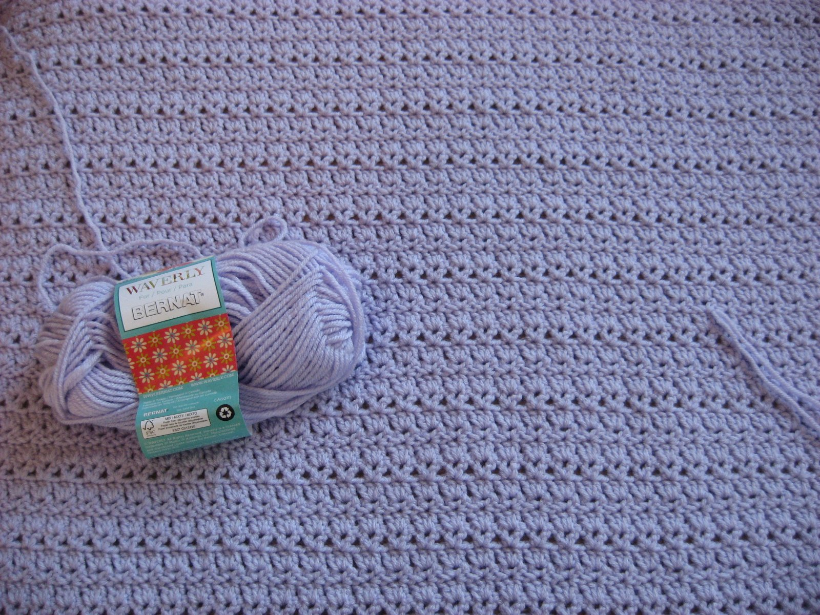 Hooked on Needles: Mary\'s Wedding Gift Afghan ~ Snowbound Throw in ...