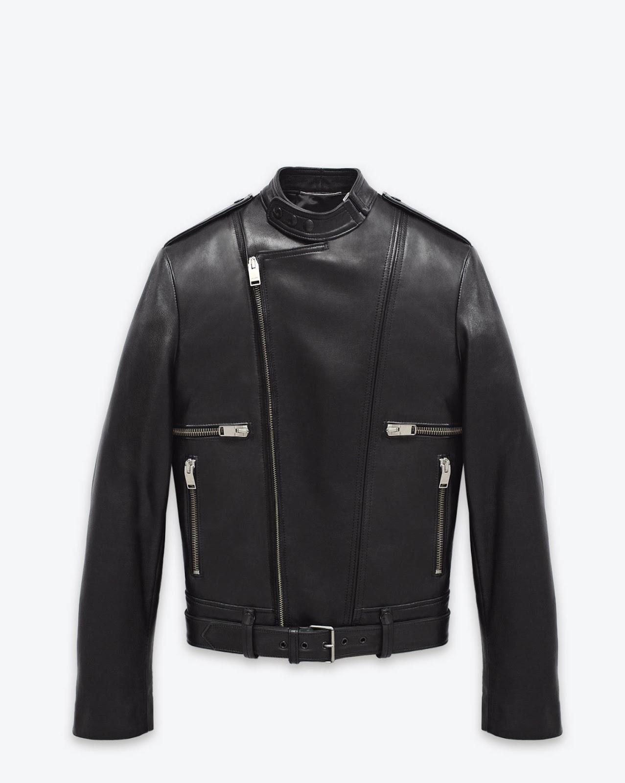 Saint laurent leather jacket men
