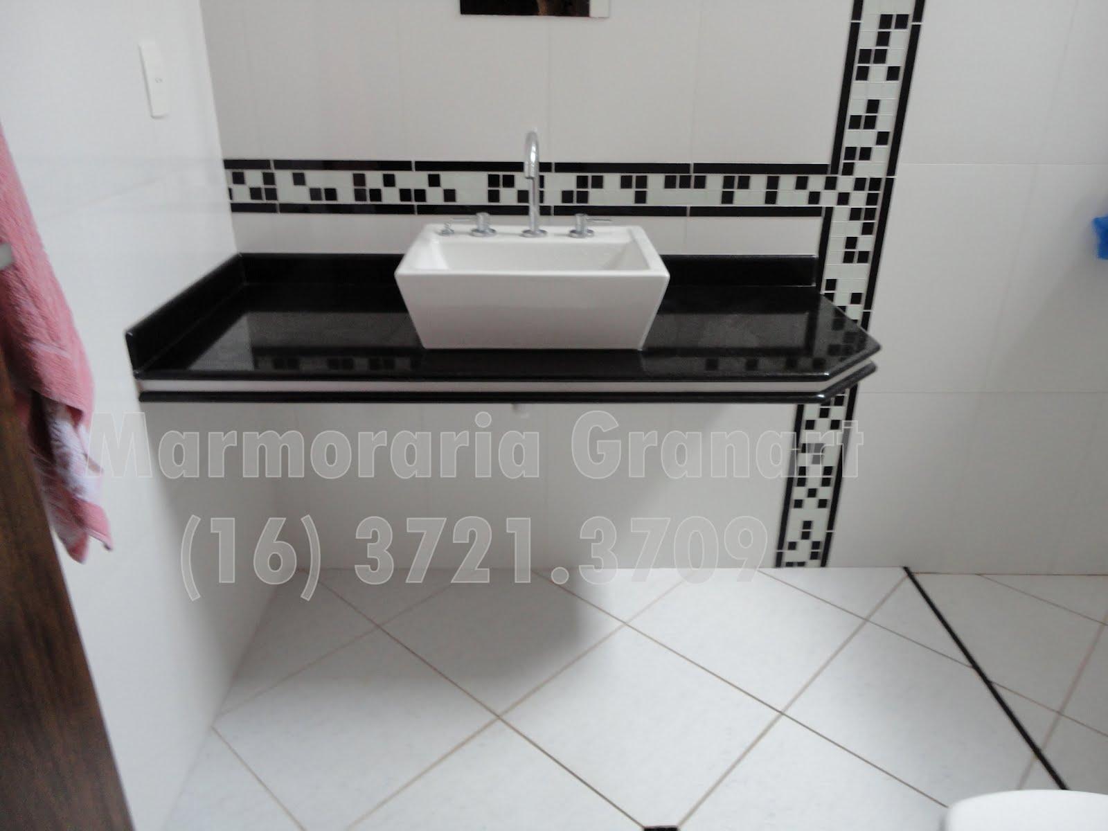 Marmoraria Granart: Trabalhos personalizados com acabamentos finos ou  #785367 1600x1200 Banheiro Com Bancada Preta