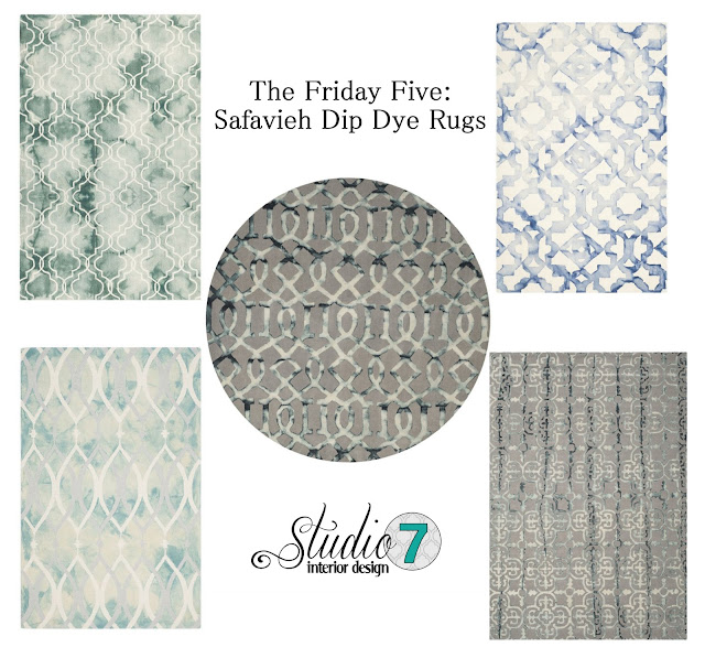 the friday five, safavieh, safavieh rug, safavieh dip dye, rug, dip dye, dip dye rug, gray rug, grey rug, charcoal rug, kitchen rug, round rug, affordable rug, cheap rug, wool rug, wool blend rug, trellis rug, blue rug, blue trellis, bay window, round table, round dining table, round kitchen table, white kitchen chairs, white chair, tan cabinets, beige kitchen, aloof gray, sherwin williams, gray paint, grey paint