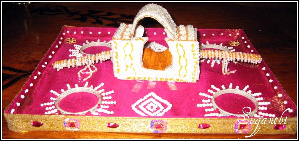 Sparklers arathi thatu for Arathi thattu decoration