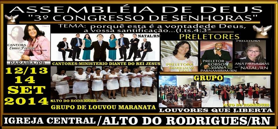 CONGRESSO DE SENHORAS EM ALTO DO RODRIGUES