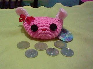 Kawaii Easter Bunny Coin Purse By Jei Crochet of Cutey Patuty Crochet