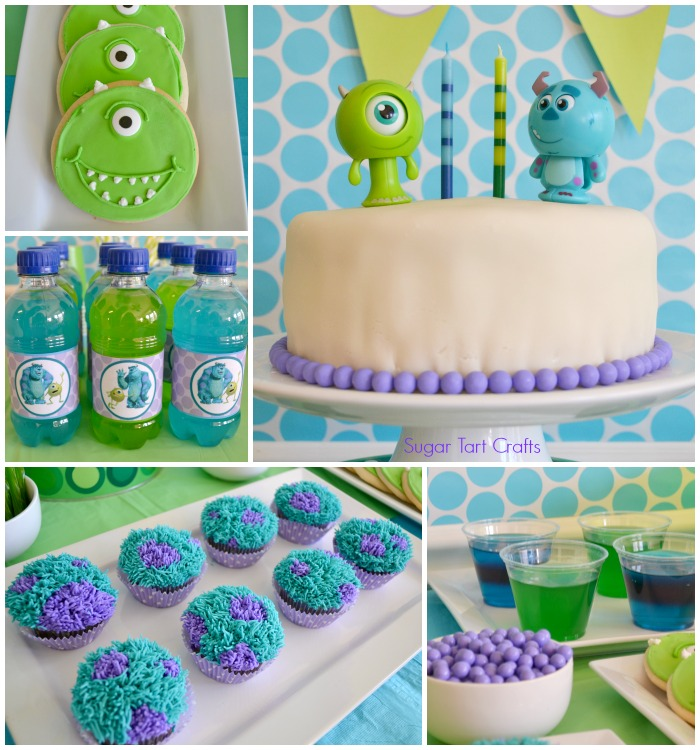 Sugar Tart Crafts: Monsters Inc 2nd Birthday Party