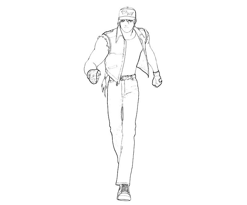 printable-king-of-fighters-terry-bogard-move-coloring-pages