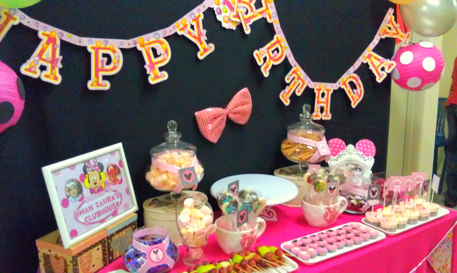 thepartykru minnie mouse 1st birthday party at bukit beruang melaka dan tutorial deko lantern. Black Bedroom Furniture Sets. Home Design Ideas