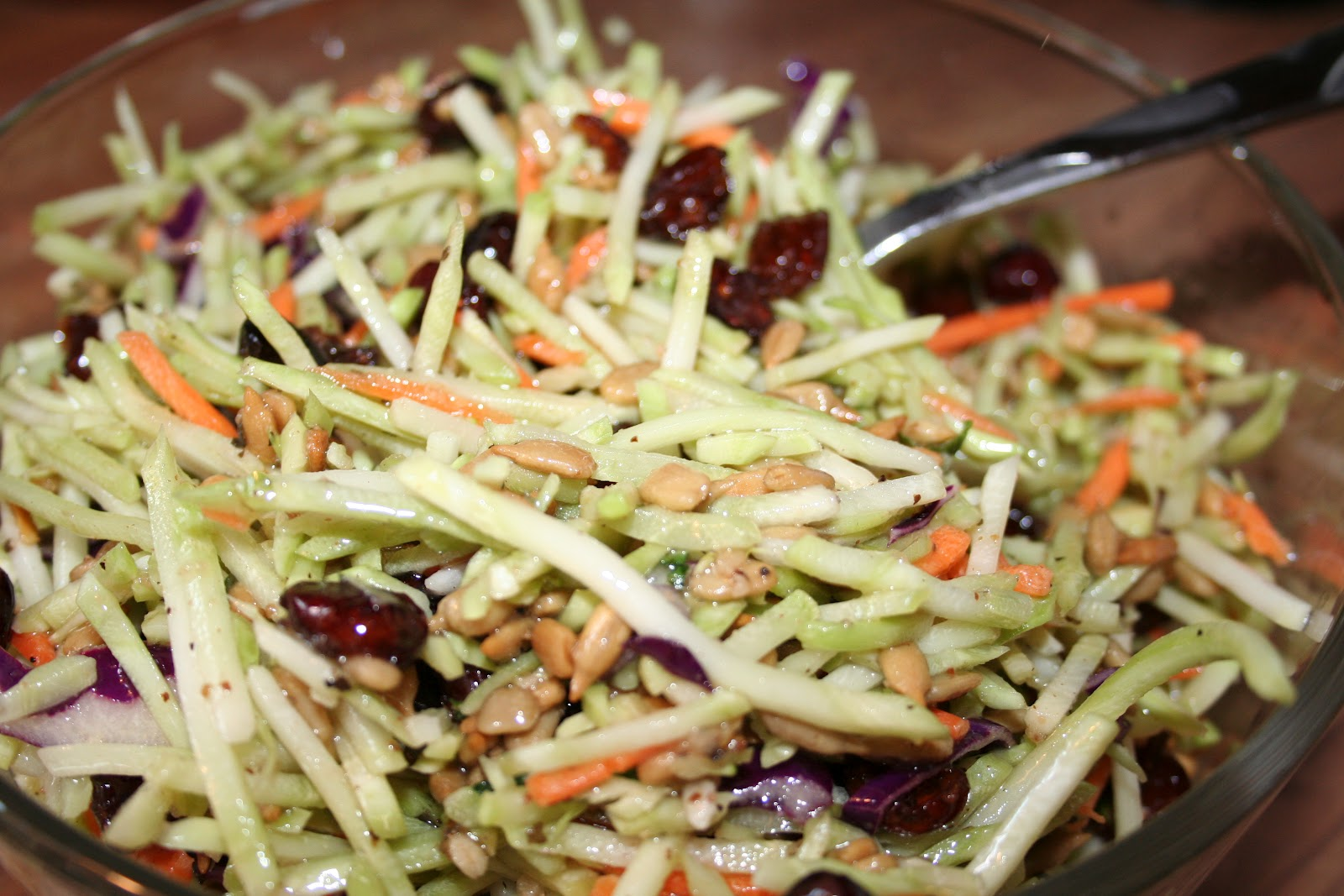 Broccoli Slaw with Cranberries & Sunflower Seeds