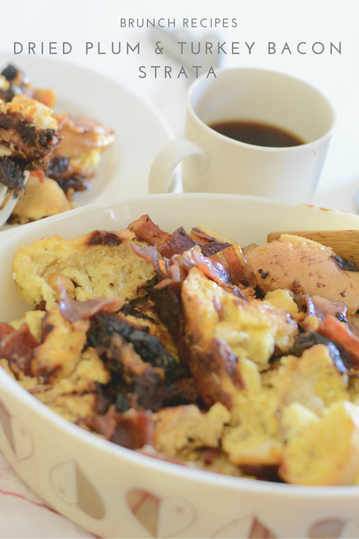dried plums turkey bacon strata