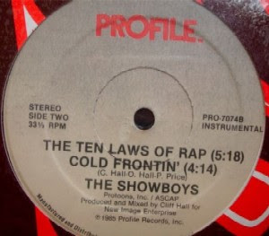 """The Showboys – The Ten Laws Of Rap / Cold Frontin' (1985) (12"""") (320 kbps)"""