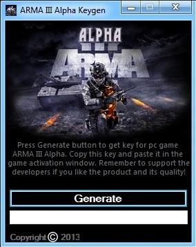 ARMA III Alpha Keygen