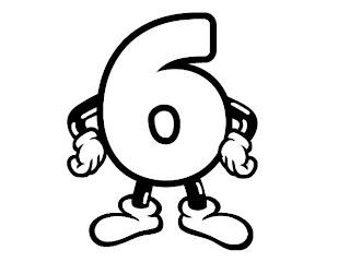 Números para colorir pintar 6