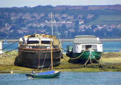 Langstone house boats