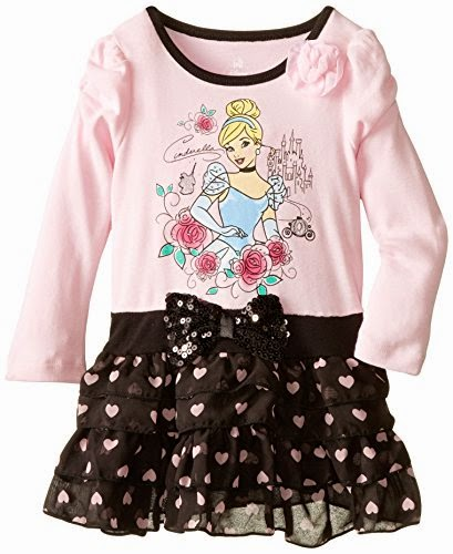 Disney Baby Baby-Girls Infant Girl Long Sleeve Cinderalla Dress