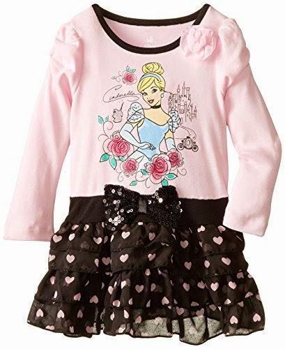 Disney Baby Baby-Girls Infant Girl Long Sleeve Cinderalla Dress