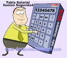 Tabla Salarial Ilunion Seguridad Julio - Diciembre 2016