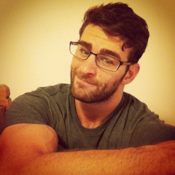 nerdy hot man