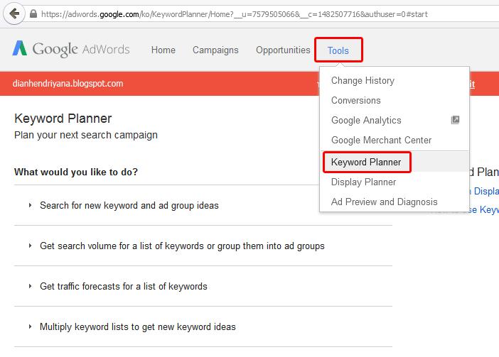Keywoard Planner