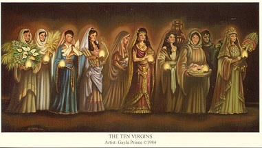 ten virgins lds clipart