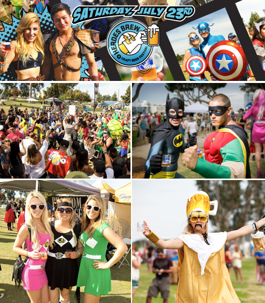 Promo code SDVILLE saves $5 per ticket to the Heroes Brew Fest on July 23!
