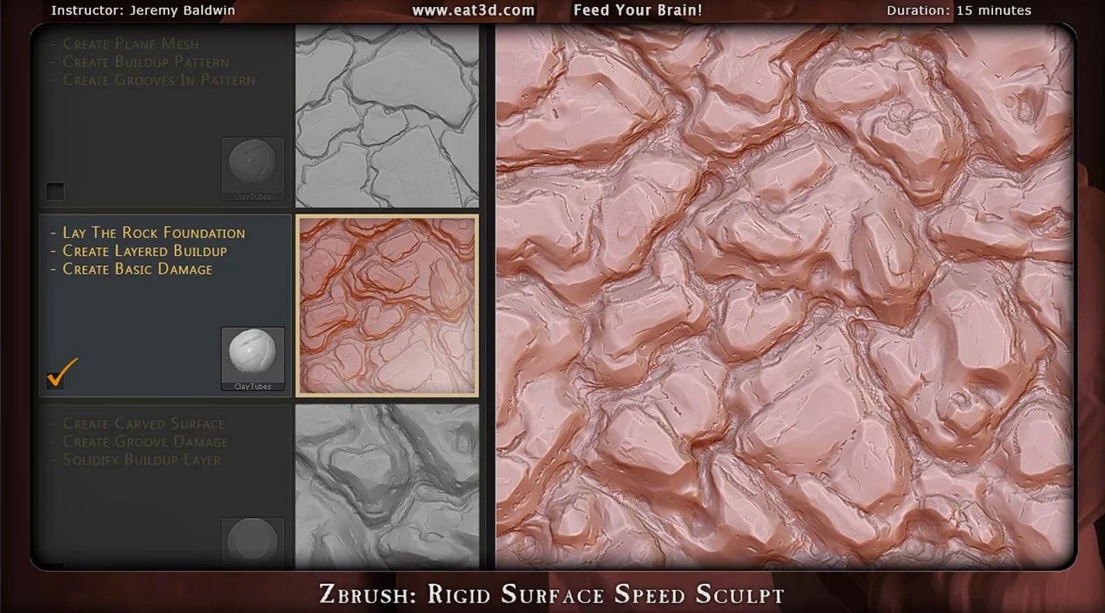 Rigid Surface Speed Sculpt in Zbrush | CG TUTORIAL