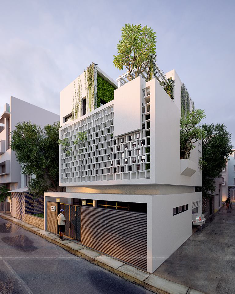 Bi t th nghi t m h n i ki n tru c ph town architek for Concept home architecture and engineering