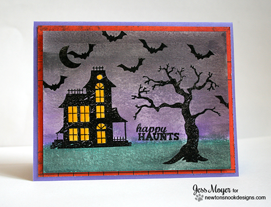 Haunted House Halloween card by Jess Moyer for Newton's Nook Designs | Spooky Street Stamp Set