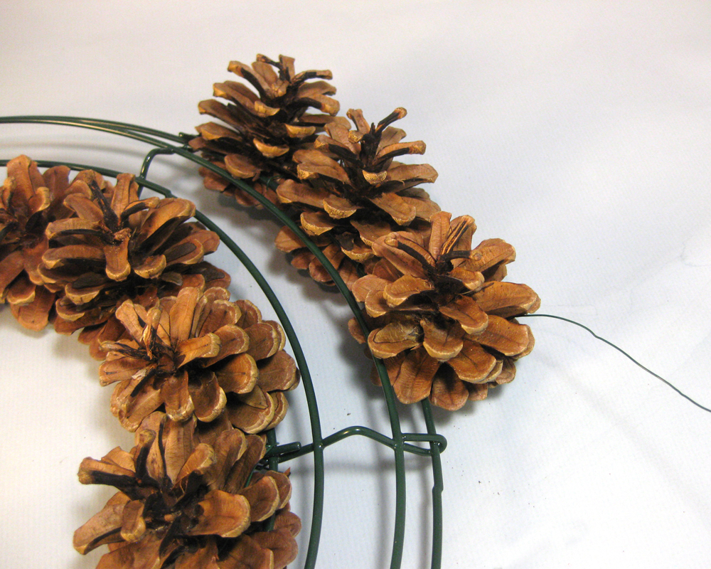 Another bright idea pine cone wreaths a tutorial for What to do with pine cones for christmas