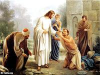 Foto de jesus ajudando os necessitados
