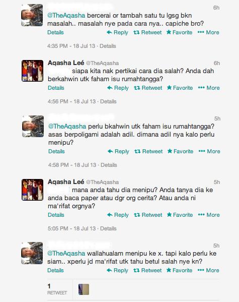 Aqasha Lee Pun Bertekak Soal Nikah Ashraf Muslim