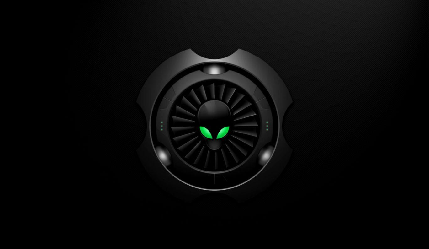 alienware logo dark edition | mega wallpapers