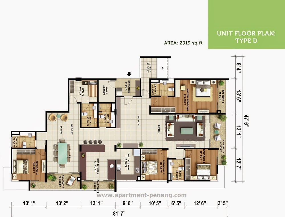 Olive Tree Residences Apartment Penang Com