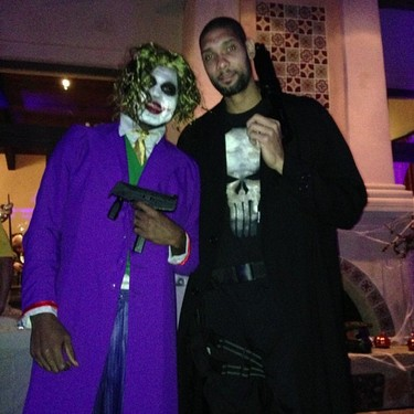 Of course Tim Duncan is the punisher how Tim Duncan of him to recycle his costume ideas. We already saw him earlier this year with a punisher knee brace ...  sc 1 st  The Basketball Machine & The Basketball Machine: Spurs wins the NBA Halloween Costume Contest.