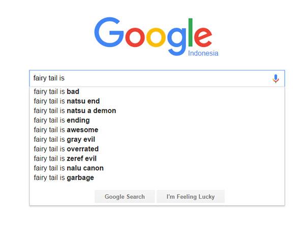 Fairy Tail - score/nilai dari Google