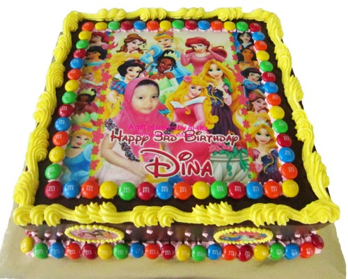 Birthday Cake Disney Princess Edible Image